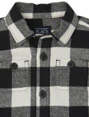 Baby Boys Matching Family Buffalo Plaid Flannel 2-Piece Set