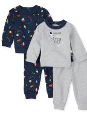 Baby Boys Space 4-Piece Playwear Set