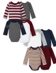 Baby Boys Bodysuit 8-Pack