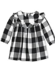 Baby Girls Matching Family Buffalo Plaid Dress
