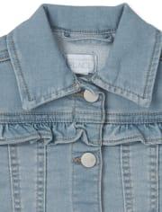 Baby Girls Super-Soft Stretch Denim Jacket