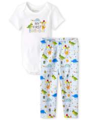 Baby Boys Birthday 2-Piece Set