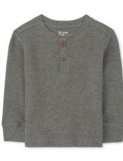 Baby And Toddler Boys Thermal Henley Top