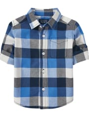 Baby And Toddler Boys Plaid Oxford Button Down Shirt