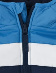 Baby And Toddler Boys Colorblock Puffer Jacket