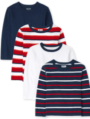 Baby And Toddler Boys Striped Top 4-Pack