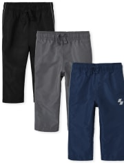 Baby And Toddler Boys Wind Pants 3-Pack