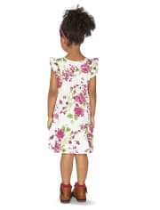 Baby And Toddler Girls Floral Tiered Dress