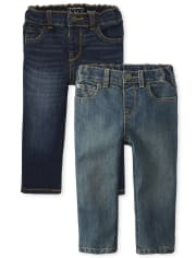 Baby And Toddler Boys Stretch Skinny Jeans 2-Pack