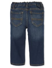 Baby And Toddler Boys Stretch Straight Jeans 2-Pack