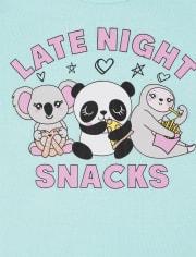 Girls Squishy Snacks Snug Fit Cotton Pajamas