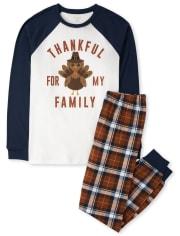 Unisex Adult Matching Family Thanksgiving Cotton Pajamas