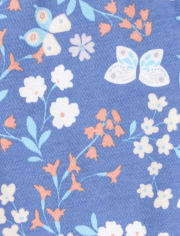 Baby And Toddler Girls Fox Fairisle Snug Fit Cotton Pajamas 2-Pack