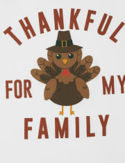 Unisex Kids Matching Family Thanksgiving Snug Fit Cotton Pajamas
