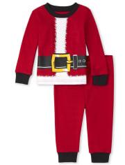 Unisex Baby And Toddler Matching Family Santa Snug Fit Cotton Pajamas