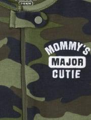 Baby And Toddler Boys Camo Snug Fit Cotton One Piece Pajamas
