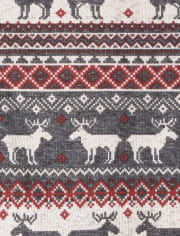 Unisex Baby And Toddler Matching Family Thermal Reindeer Fairisle Snug Fit Cotton One Piece Pajamas