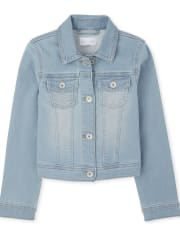 Girls Super-Soft Stretch Denim Jacket