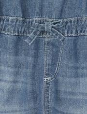 Girls Denim Overalls