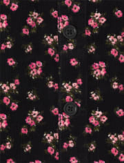 Girls Floral Corduroy Skirtall