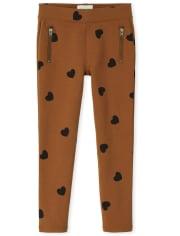 Girls Heart Zip Ponte Knit Pull On Jeggings