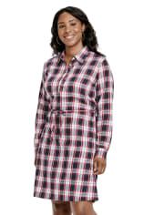 Womens Matching Family Plaid Shirt Dress