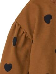 Girls Print Fleece Sweatshirt