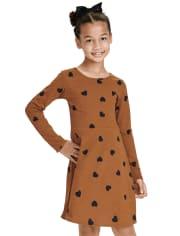 Girls Heart Skater Dress