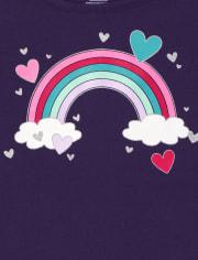 Girls Rainbow Heart Top 2-Pack