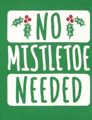 Unisex Baby Mistletoe Graphic Bodysuit