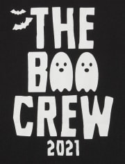 Unisex Baby Matching Family Glow Boo Crew Graphic Bodysuit