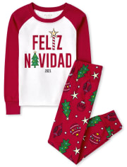 Unisex Kids Matching Family Navidad Snug Fit Cotton Pajamas