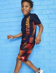 Boys Print Mesh Performance Basketball Shorts