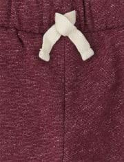 Boys Fleece Marleld Jogger Pants 2-Pack