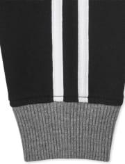 Boys Striped Fleece Jogger Pants 2-Pack