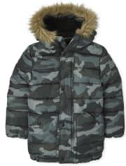 Eva's Pick - Boys Camo Parka Jacket