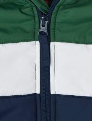 Boys Colorblock Puffer Jacket