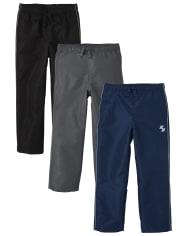 Boys Wind Pants 3-Pack