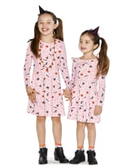 Girls Halloween Skater Dress