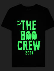 Unisex Kids Matching Family Glow Boo Crew Graphic Tee