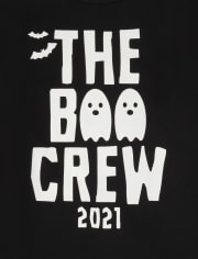 Unisex Adult Matching Family Glow Boo Crew Graphic Tee