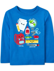 Baby and Toddler Boys School Supplies Graphic Tee