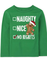 Baby and Toddler Boys Nice List Graphic Tee