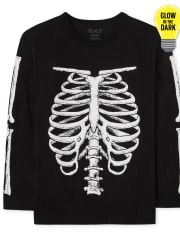 Boys Dad And Me Glow Skeleton Graphic Tee