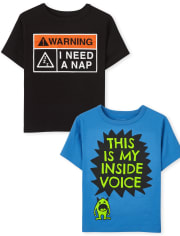 Toddler Boys Sassy Graphic Tee 2-Pack