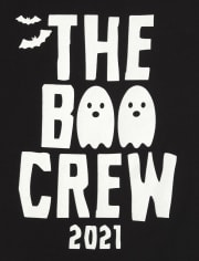Unisex Toddler Matching Family Glow Boo Crew Graphic Tee