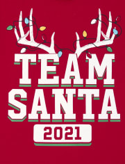 Unisex Baby And Toddler Matching Family Team Santa Graphic Tee