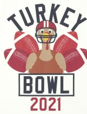 Unisex Baby And Toddler Matching Family Turkey Bowl Graphic Tee