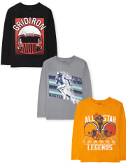 Boys Football Graphic Tee 3-Pack