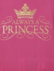 Girls Always A Princess Graphic Tee